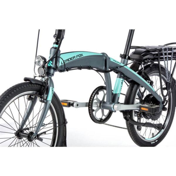 Bicicleta Pliabila Leader Fox Tifton - gri-tourquoise